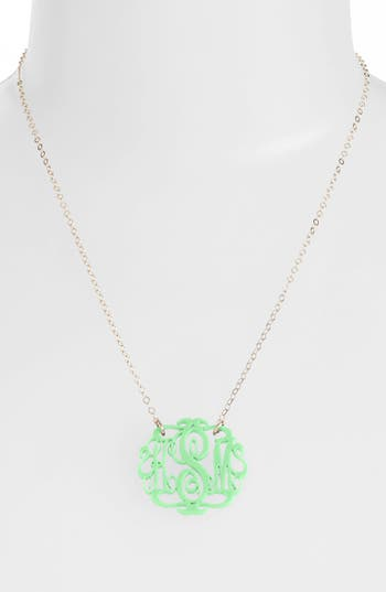 Women's Moon And Lola Small Oval Personalized Monogram Pendant Necklace (Nordstrom Exclusive)