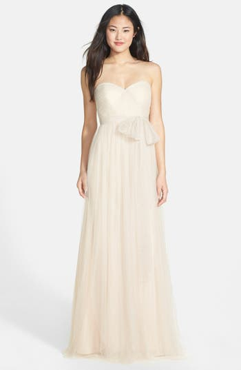 Vintage Inspired Wedding Dress | Vintage Style Wedding Dresses Womens Jenny Yoo Annabelle Convertible Tulle Column Dress Size 16 - Ivory $155.98 AT vintagedancer.com