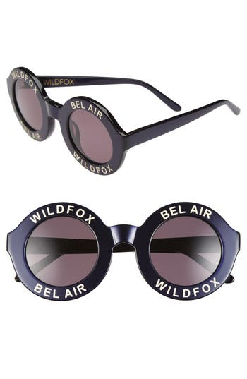 Women's Wildfox 'Bel Air' 44Mm Sunglasses - Navy Blue/ Grey Solid