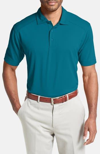 Men's Cutter & Buck 'Genre' Drytec Moisture Wicking Polo, Size X-Large - Blue/green (Online Only)