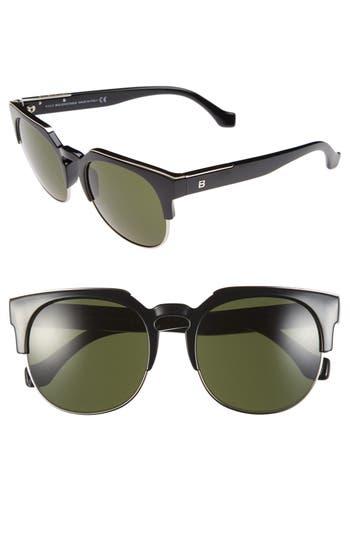 Balenciaga 5m Sunglasses - Black/ Graident Smoke Lenses