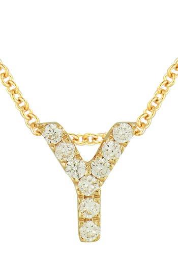 Women's Bony Levy Pave Diamond Initial Pendant Necklace (Nordstrom Exclusive)