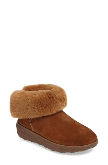 Fitflop Shorty Ii Genuine Shearling Lined Boot, Brown