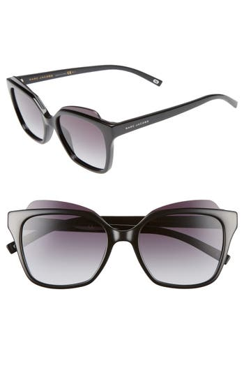 Women's Marc Jacobs 54Mm Sunglasses - Shiny Black