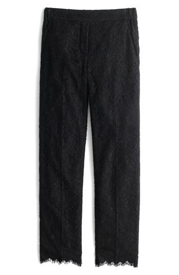 Women's J.crew Lace Pants, Size 00 - Black