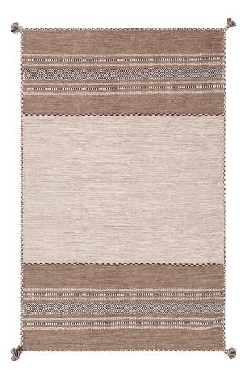 Surya Home Trenza Global Stripe Rug, Size Swatch - Beige