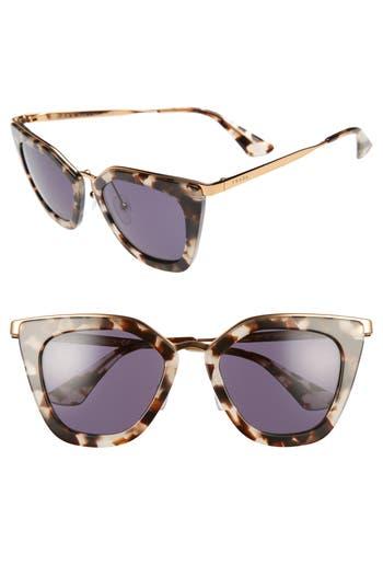 Women's Prada 52Mm Layered Frame Sunglasses - White Havana