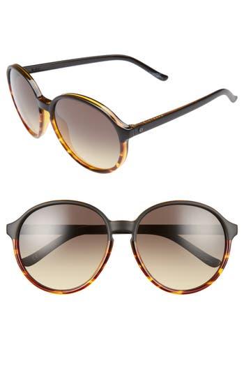 Women's Electric 'Riot' 58Mm Round Sunglasses - Dark Tortoise/ Black Gradient