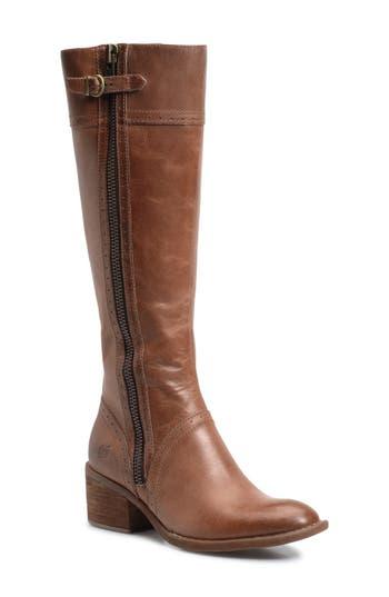 Women's B?rn Poly Riding Boot, Size 8.5 Regular Calf M - Beige