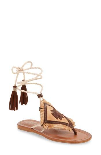 Women's Matisse Bronte Tassel Lace-Up Sandal, Size 6 M - Beige
