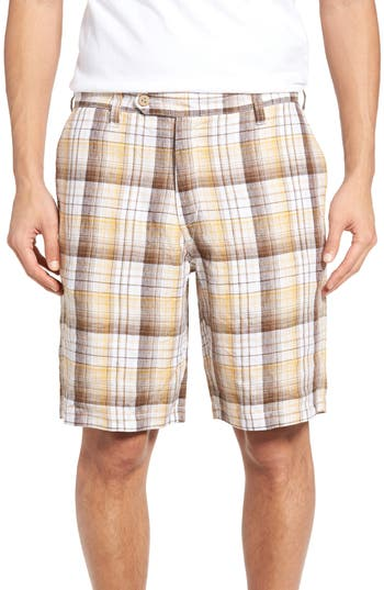 Big & Tall Tommy Bahama Island Duo Reversible Linen Shorts - Brown