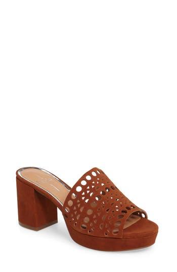 Women's Linea Paolo Ofra Block Heel Mule, Size 5.5 M - Brown