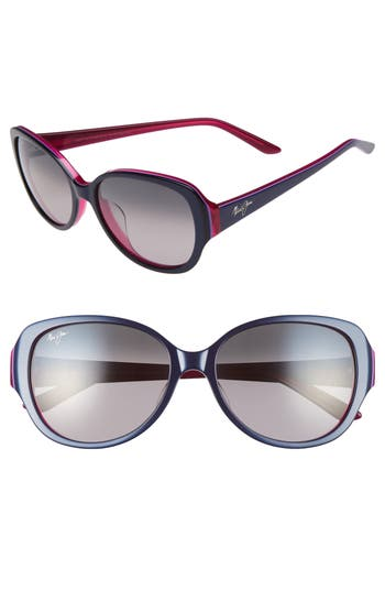Maui Jim Swept Away 5m Polarizedplus2 Sunglasses - Blue Raspberry/ Neutral Grey