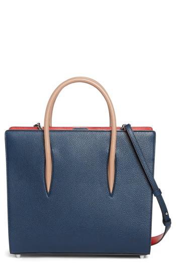 Christian Louboutin Medium Paloma Leather Tote - Blue
