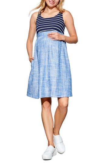 Women's Maternal America Empire Waist Maternity Dress