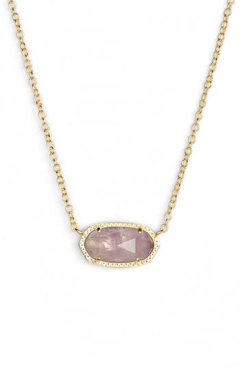 Kendra Scott Elisa Birthstone Crystal Necklace In February