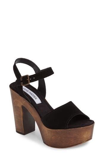 Women's Steve Madden Lulla Platform Sandal, Size 7 M - Black