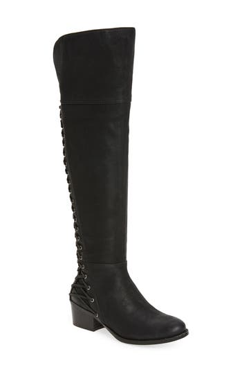 Retro Boots, Granny Boots, 70s Boots Womens Vince Camuto Bolina Over The Knee Boot Size 9.5 Wide Calf M - Black $119.96 AT vintagedancer.com