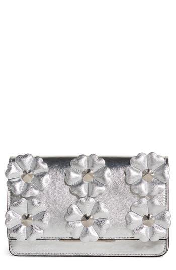 Women's Fendi Flower Leather Wallet On A Chain -