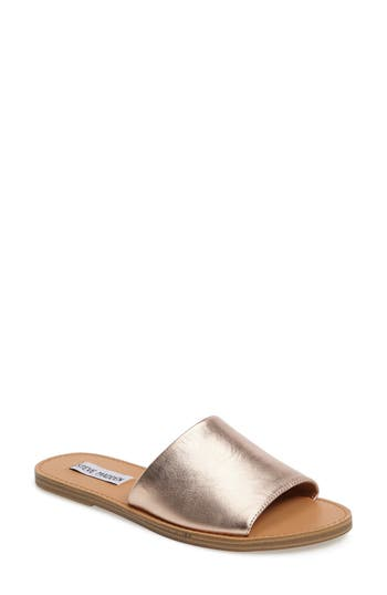 Women's Steve Madden Grace Slide Sandal, Size 5.5 M - Metallic