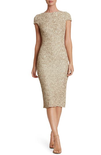 Women's Dress The Population Marcella Sequin Midi Dress