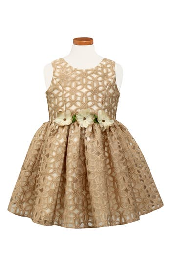 Girl's Sorbet Floral Burnout Party Dress