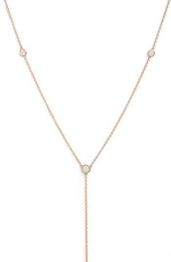 Zoe Chicco Scattered Diamond Bezel Y-Necklace