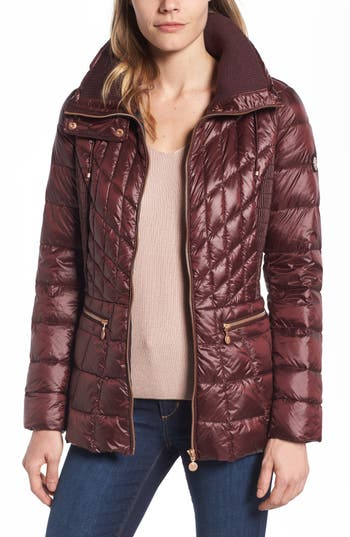 Bernardo Packable Jacket With Down & Primaloft Fill, Red
