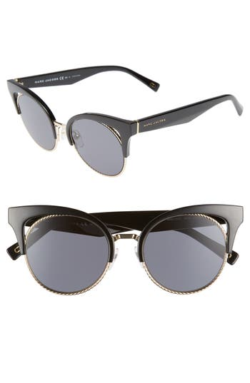 Women's Marc Jacobs 51Mm Gradient Lens Cat Eye Sunglasses -