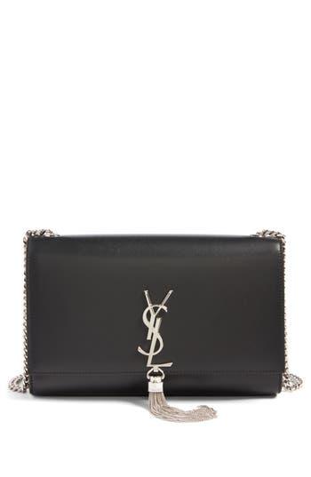 Saint Laurent Medium Kate - Tassel Calfskin Leather Crossbody Bag - Black