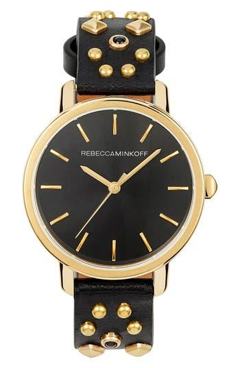 Women's Rebecca Minkoff Bffl Studded Leather Strap Watch, 36Mm