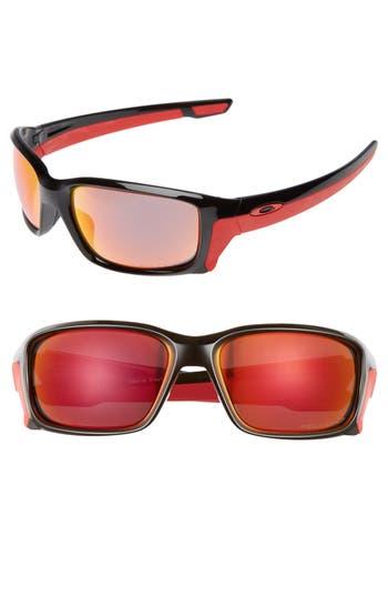 Oakley Straightlink 61Mm Polarized Sunglasses - Black/ Torch Iridium P