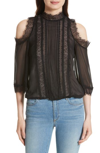 Women's Alice + Olivia Glinda Cold Shoulder Blouse