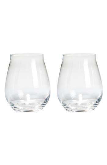 Luigi Bormiolo Vinea Trebbiano Set Of 2 Stemless Wine Glasses, Size One Size - White