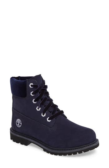 Women's Timberland 6-Inch Premium Boot, Size 9 M - Blue