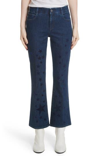 Women's Stella Mccartney Star Print Crop Flare Jeans