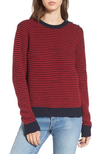 Women's Zadig & Voltaire Jade Stripe Sweater, Size X-Small - Red