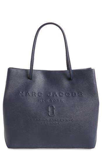 Marc Jacobs Logo Leather Shopper - Blue