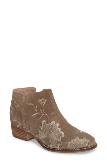 Seychelles Lantern Embroidered Short Bootie- Brown