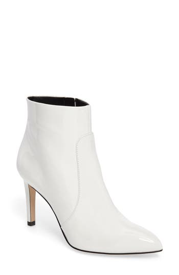 b872fd4ff89319 Sam Edelman Women S Olette Patent Leather High Heel Booties In Bright White  Leather