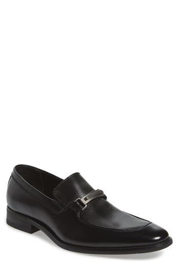 Men's Calvin Klein Rufus Embossed Apron Toe Loafer
