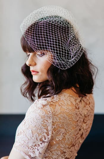 Vintage Inspired Wedding Accessories J-Picone Bridal Veil Hairpin $43.00 AT vintagedancer.com