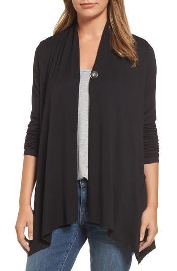 Women's Bobeau Snap Front Jacket, Size X-Small - Black