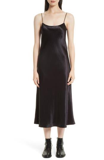 Women's Vince Midi Slipdress, Size Medium - Black