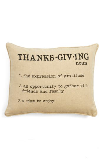 Levtex Thanksgiving Definition Accent Pillow, Size One Size - Beige