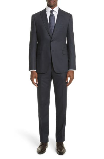 Men's Armani Collezioni M-Line Trim Fit Solid Wool Blend Suit