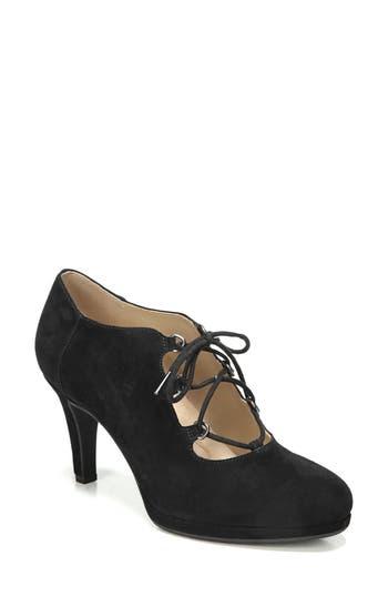 1930s Style Shoes – Art Deco Shoes Womens Naturalizer Macie Lace-Up Pump Size 4.5 M - Black $119.95 AT vintagedancer.com