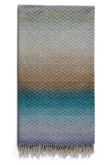 Missoni Pascal Throw Blanket, Size One Size - Blue