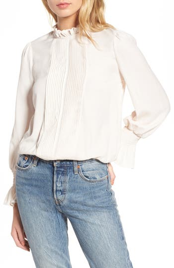 Victorian Style Blouses, Tops, Jackets Womens J.o.a. Ruffle Blouse $74.00 AT vintagedancer.com