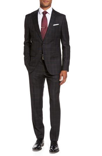 Men's Boss Novan/ben Trim Fit Plaid Wool Suit